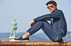 Filippo Bologni - Kyme Sunglasses, Department5 Pants - On top of the world