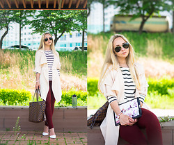 Olga Choi - Touch Zero Gravity Ipad Case, Old Navy Sweater, Kpopsicle Pants, Sheinside Long Shirt, Louis Vuitton Bag - This summer