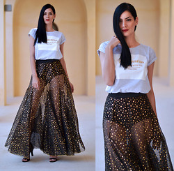 Konstantina Tzagaraki - Skirt, 20 Years Anniversary T Shirt - We'll be counting stars..