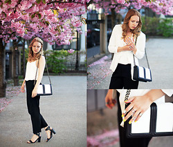 Lena R.F. - H&M Purse, Mango Shoes, H&M Blazer, Weekday Pants, Gina Tricot Top, H&M Rings - Blossom