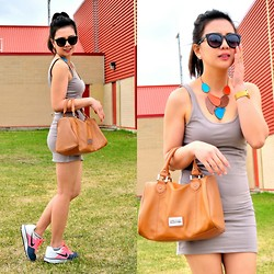 Pearl Yao - Topshop Dress, Kenneth Cole Bag, Nike Shoes - Sunday