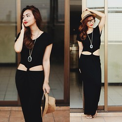 Marj Ramos - Minted Agate Slice Necklace, Indie Go Boutique Maxi Dress - Happy Hippie