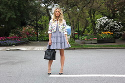 Cara McLeay - Red Valentino Dress, Miu Jacket - Leone.