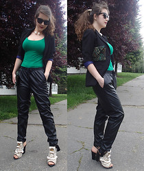 Patricia C. - H&M Leather Pants, H&M Shoes, Zara Clutch, Zara Necklace - We're Going to Hell...So Bring the Sunblock