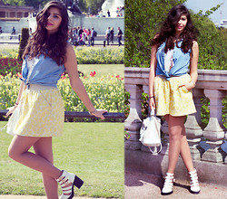 Reneta Kanevska - Bsb Denim Top, Boohoo Shoes, Topshop Bag, Bsb Skirt - Let's give a start to spring outfits!