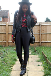Mwandu S - American Apparel Disco Pants, American Apparel Shirt, H&M Biker Jacket, Vagabond Boots - I won't let you go