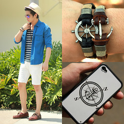 Nick Ronquillo - Memo Button Down, Bass Boat Shoes - Sail