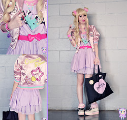 Luly Pastel Cubes - Nadia Dress, Galaxxxy Jacket, Max Star Sneaker, Marisa Belt - Get Lucky