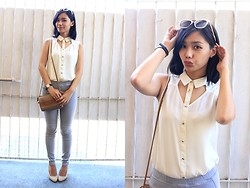 Carina Bailon - Forever 21 Sleeveless Top With Cutouts, Uniqlo Pants, Sunnies By Charlie Sunglasses - Lovely Day