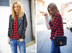 Estefania Ainoza - Romwe Jacket, Romwe Shirt, Zara Jeans - In the moment