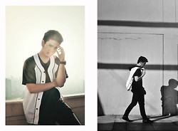 Ezekiel Vejerano - Customized Baseball Jersey, Uniqlo Airism (Black) Shirt, Topman Pants, Converse High Cut Leather Sneakers - BNW