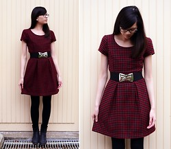 Tram N. - Amisu Red Tartan Dress - When I'm with you, there's no place I'd rather be.