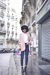 Leeloo P - Blazer Hipanema, Bag Hipanema, Chic Wish Shoes Chicwish, Topshop Jean - La vie en rose