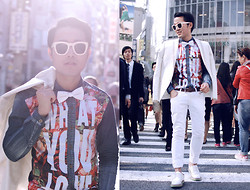 KIKO CAGAYAT - Choies Vintage Bowtie In White, Choies Floral Letters Print Denim Shirt - BIG CITY