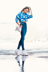 Martina M. - Angelica Blick For Bikbok Sweater, Weekday Jeans, Angelica Blick For Bikbok Bag, Topshop Boots - Rainy Day Blues.
