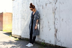 Chloe Tanner - Monki Cardigan, Converse, Topshop Jeans - The Cardigan.