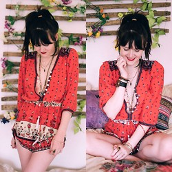 Kacie Cone - Spell & The Gypsy Collective Desert Wander Playsuit - To Be Free
