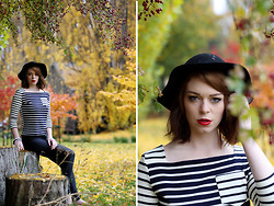 Jessica Biancon - Threeofive Hat, Petit Bateau Top, American Apparel Pants - Redlands