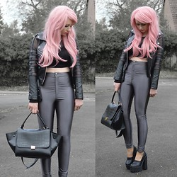 Sammi Jackson - Zealotries Cut Out Jacket, Primark Grey Discopants, Oasap Trapeze Bag - CUT OUT JACKET