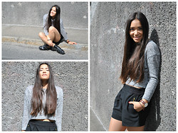 Sarah Quan - Vero Moda Crop Top, Zara Boots, Daniel Wellington Watch, Zara Short - Crop Top Came Back
