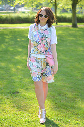 Deborah S - Zatchels Bag, Vintage Co Ord - Rose Gold Florals