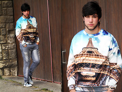 Ayoub Echehab - Romwe Sweatshirt - The City Of Love