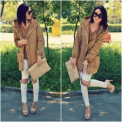 Paris Sue - Choies Clutch, Romwe Sunnies, Romwe Coat - Holaa!