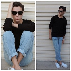 Brandon Beltran - Ray Ban Sunglasses, Zara Sweater, Levi's® Jeasn, Vans Sneakers, Michael Kors Watch - Rainy Days and Fridays