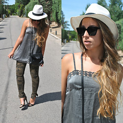 Claudia Villanueva - Nasty Gal Sunglasses, H&M Bag, Zara Pants, Zara Sandals - Dress over pants