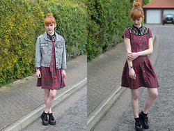 Ellie H - Dr. Martens Dress, Forever 21 Jacket - Tartan Again