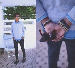 El miliani Simo - H&M Shirts, Zara Sweater, Zara Jeans, Sebago, H&M, Ray Ban Eyewear - A Simple life