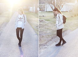 Emma Ohgren - Urban Outfitters T Shirt, H&M Shoes - ADIDAS