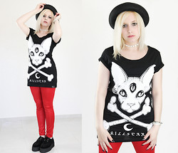 Anya M. - New Look Hat, Killstar T Shirt, Bershka Leggings, Ebay Creepers - You love me for Everything you Hate me For