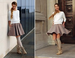Karolina Kwiatkowska - French Connection Uk Jumper, Sylwia Majdan Skirt, French Connection Uk Shoes - Flared skirt
