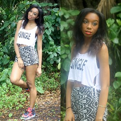 Alexa C - #Single Tank, Graphic Shorts, Jordans, Forever 21 Body Chain - Problem