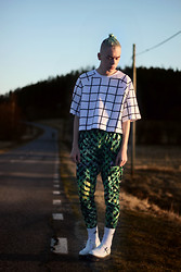 Johannes Karlsson - Monki Sweater, Monki Pants, Adidas Socks, Dr. Martens Shoes - I'm Sorry About Yesterday