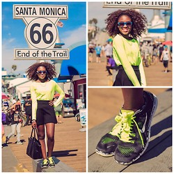 Oby Grace - Nike Top, Nike Shoes, Charlotte Russe Skirt, H&M Bag - Sporty Chic