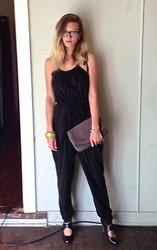 Emi B - Living Doll Jumpsuit, Oroton Clutch, Mollini Shoes - Jumpsuits: the closest thing to pjs you can wear to lunch