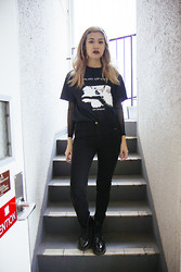 Nicole Ngaise - Dr. Martens Boots, Zara Pants - Love Will Tear Us Apart