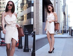 Rita Galkina - Bcbg Bag, Saint Laurent Shoes, Ray Ban Sunglasses, Atelier Dress - Sin city