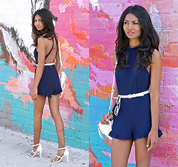 Tiffany Borland - Tuolomee Clothing Blue Ruffle Romper - Until the wolves are away.