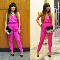 Alyssa Magallanes - Mustard Seed Jumpsuit, Forever 21 Shoes - Fierce in Pink.