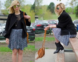 Liat Neuman - Bcbg Jacket, Club Monaco Skirt, Urban Outfitters Bag, American Apparel Bodysuit - Waiting for the sun
