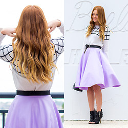 Kiara King - Wish Crossed Jumper, Asos Midi Skirt, Tony Bianco Heeled Booties - WINTER IN THE CITY