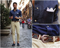 Filippo Fiora - Boglioli Shirt, Saint Laurent Sunglasses, Church's Loafers - WALKING AROUND ROMA