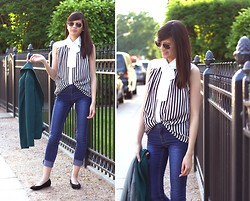 Tram N. - Cheap Monday Blue Jeans, Mayuki Gifted Blouse - Style is a way to say who you are without having to speak.