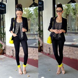 Jessica R. - Vinnue Tank, Topshop Black Denim, Bebe Anika Heels - Let's Get Down to Business