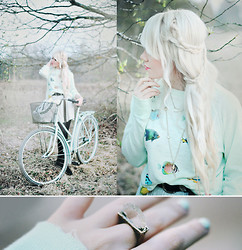 Kerti P. - Wildfox Couture Sweater, Ringsandtings Crystal Ring, H&M Skirt - I'm a Wildfox.