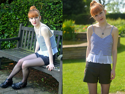 Ellie H - Asos Top, Zara Shorts, New Look Shoes - Flare