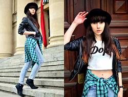 Sylwia K. - Choies Dope Top, Romwe Pants, H&M Hat, Czasnabuty.Pl Ice Wedges - Dope!